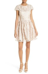 Alice Olivia Women's Gracia Lace Fit And Flare Dress