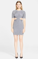 Alexander Wang Exposed Back Cutout Knit Dress Black And White