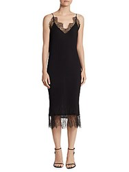 Delfi Collective Claire Lace Trim Slip Dress Black