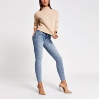 River Island Blue Low Rise Skinny New Fit Jeans