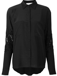 Loyd Ford Sequin Embellished Shirt Black