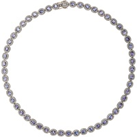 Diamond And Tanzanite Necklace