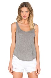 Enza Costa Baseball Scoop Tank Gray
