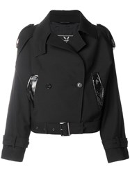 Unconditional Cropped Double Breasted Jacket Black