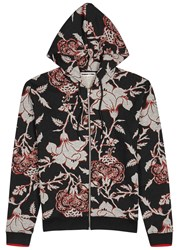 Mcq By Alexander Mcqueen Floral Print Cotton Sweatshirt Black