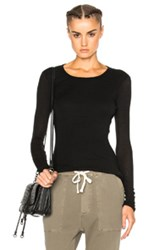 James Perse Doubled Cashmere Crew Sweater In Black
