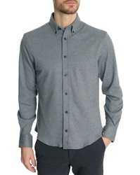 Menlook Label Smith Knitted Navy Button Down Collar Shirt