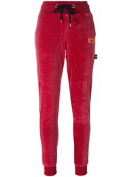 Gcds Drawstring Track Pants Cotton Polyester S Red