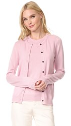 Pringle Of Scotland Long Sleeve Cashmere Cardigan Pink Multi