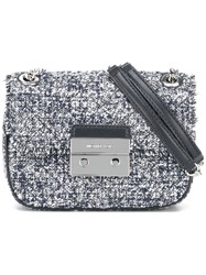 Michael Michael Kors Tweed Shoulder Bag Blue