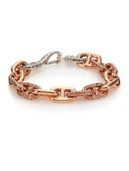 John Hardy Classic Chain Sterling Silver And Bronze Link Bracelet