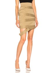 Monse Cotton Canvas Skirt In Brown Neutrals Brown Neutrals