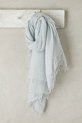 Anthropologie Lille Cashmere Scarf Blue Green