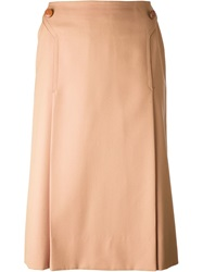 Celine Vintage High Waisted Skirt Nude And Neutrals