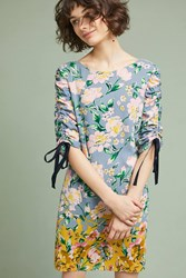 Donna Morgan Cassidy Ruched Dress Yellow Motif