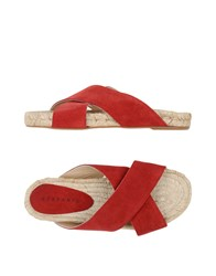 Stefanel Footwear Espadrilles Women Brick Red