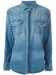 Current Elliott Denim Shirt Blue