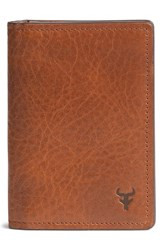 Men's Trask 'Jackson' Gusset Pocket Bison Leather Card Case