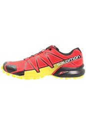 Salomon Speedcross 4 Trail Running Shoes Radiant Red Black Corona Yellow