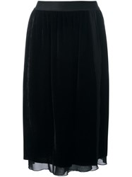 Pascal Millet Velvet Pencil Skirt Black