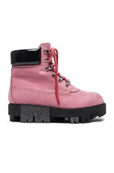 Acne Studios Leather Telde Boots In Pink