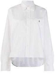 Polo Ralph Lauren Logo Embroidered Shirt White