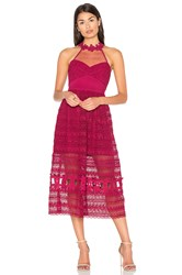 Three Floor Sun Days Dress Fuchsia