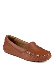 Sperry Katharine Lynn Leather Moccasins Tan