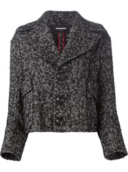 Dsquared2 Tweed Coat Black