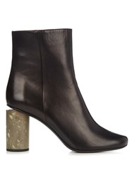 Acne Studios Althea Leather Ankle Boots Black Grey