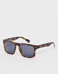 Levi's Square Tortoise Shell Glasses With Smoke Lens Brown