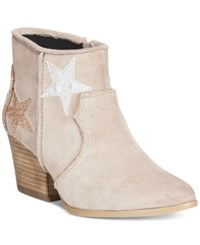 Dolce By Mojo Moxy Tracery Western Booties Women's Shoes Cream