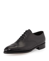 John Lobb Philip Ii Cap Toe Oxford Black
