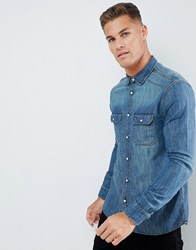 Burton Menswear Denim Shirt In Blue