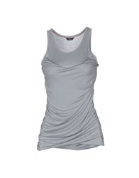 Harmont And Blaine Tank Tops Grey