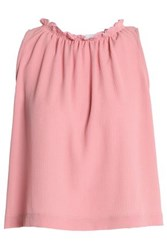 Kain Label Gathered Crepe Top Pink
