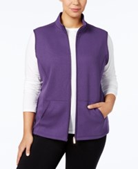 Karen Scott Plus Size Quilted Vest Created For Macy's Cassis