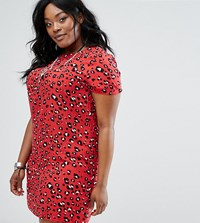 Alice And You Leopard Shift Dress Multi