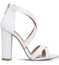Miss Kg Faun Reptile Effect Sandals White