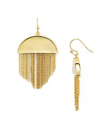 Trina Turk Fringe Drop Earrings Gold