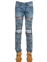 Hba Hood By Air 16.5Cm Shredded Zipped Denim Jeans