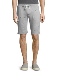 Sovereign Code Walls Embroidered Terry Shorts Gray