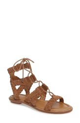 Arturo Chiang Women's Cassie Lace Up Sandal Macadamia Leather