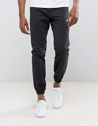 Kiomi Chino In Black With Cuffed Hem Washed Black