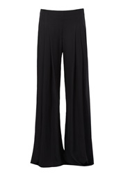 Oscar De La Renta Wide Leg Fluid Trousers Black