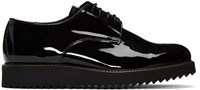 Public School Black Patent Siggy Creeper Derbys