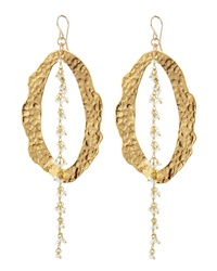 Devon Leigh 24K Yellow Gold Plate And Freshwater Pearl Earrings