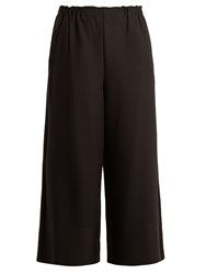 Issey Miyake Cosmic Pleated Wide Leg Trousers Black
