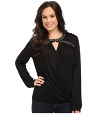 Rock And Roll Cowgirl Long Sleeve Blouse 48 5094 Black Women's Blouse