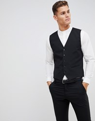 Selected Homme Suit Waistcoat With Stretch In Slim Fit Black